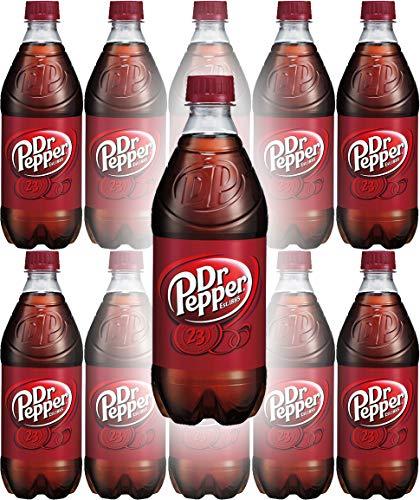 Dr. Pepper Soda, 20oz Bottle (Pack of 10, Total of 200 Fl Oz)