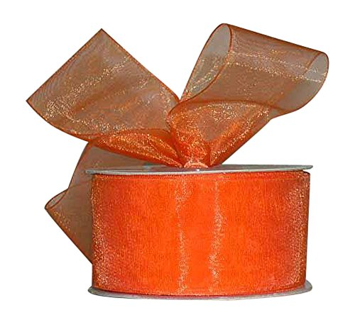 Ribbon Bazaar Sheer Organza 1-1/2 inch Orange 100 Yards 100% Nylon Ribbon