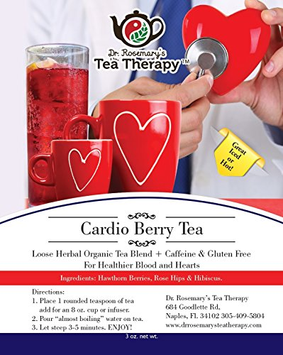 Cardio Berry Tea. Delicious served Iced or Hot by Dr. Rosemary's Tea Therapy
