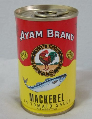 Ayam Brand Mackerel in Tomato Sauce No Preservatives No Additives & No Added MSG. 155g. - Pack 3