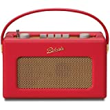 ロバーツラジオ R250 レザークロス レッド バックライト付き ゴールドパネル
