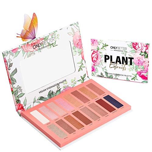 ONLYBETTER Vegan Eyeshadow Palette, Nude Eyeshadow Palette, 16 Shades Organic Eyeshadow palette high pigmented eyeshadow…