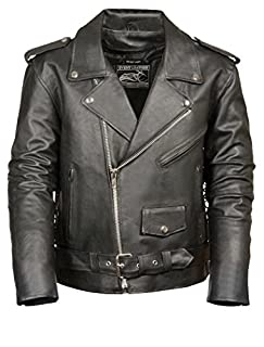 Event Biker Leather Men's Basic Motorcycle Jacket with Pockets (Black, Small) (B00XRDYGVQ) | Amazon Products