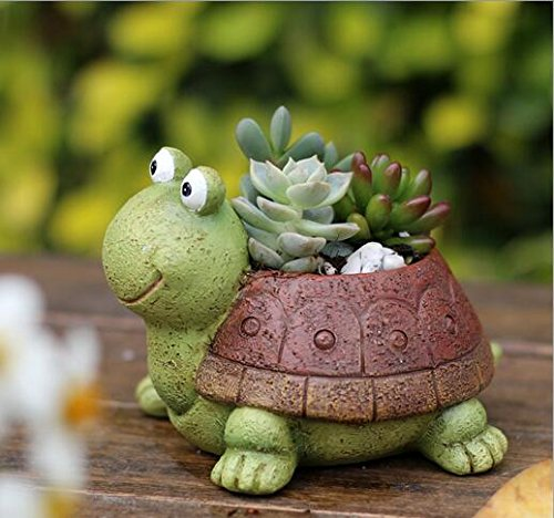 Youfui Cute Animal Shaped Cartoon Home Decoration Succulent Planter Flower Pots (Turtle)