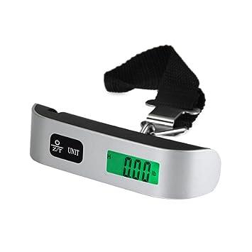 AOLVO Báscula Digital Portátil, Cómodo Agarre en Forma de T, 50KG de Precisión para Comercio,Compra y Equipaje: Amazon.es: Hogar