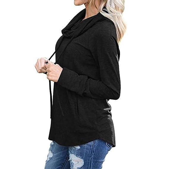 BBestseller Sudadera con Capucha sólida Casual de Cuello Redondo y Manga Larga Sweatshirt para Mujer con Bolsillos: Amazon.es: Ropa y accesorios