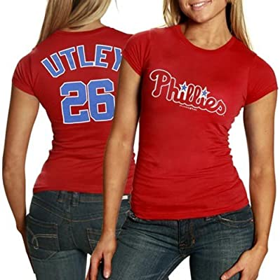 online store 660aa eaa38 Amazon.com : Philadelphia Phillies #26 Chase Utley Ladies ...