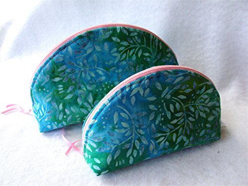 Grosgrain Ribbon Purses - Curved Top Cosmetic Bag Set, Gift Accessory Pouches, Essential Oil Bags, Travel Pouches, Purse Organizers