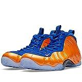 Men's Nike Air Foamposite One 'Knicks' Basketball Shoes - 314996 801, Ttl Crimson/Ttl Crimson-Gm Royal-Blk - Size 7.5 D(M) US