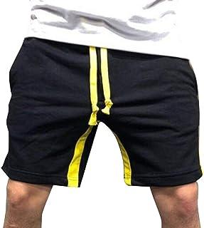 Hongxin Uomo Colorblock Pantaloncini Estivi Casuale Fitness Shorts Elastici Gym Training Pantaloni con Tasca