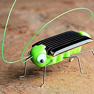 Vanvler Solar Powered Toy, Educational Toys No Batteries Required High Simulation (Grasshopper, 11/10/3 CM)