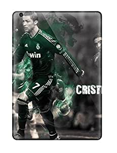 Durable Protector Case Cover With Cristiano Ronaldo Skills Hot Design For Ipad Air
