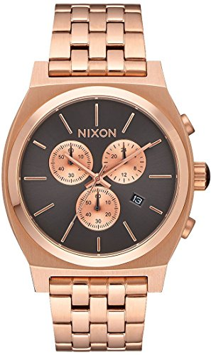 Nixon Men's 'Time Teller Chrono' Quartz Stainless Steel Casual Watch, Color:Rose Gold-Toned (Model: