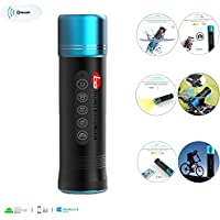 Build Excellent® Waterproof LED Torch Flashlight Bluetooth Speaker,Portable Wireless Bluetooth LED Light Lamp Flashlight for Outdoor Sports Bicycle Bike Cycling with Bluetooth Loud Speaker,Selfie