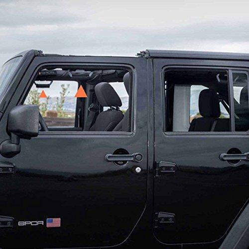 Universal to Driver and passengers Sides 4 + 2 Pack, Jet Black GPCA GP-Grip PRO Grab Handle for Jeep Wrangler JL JT JK Sport Sahara Rubicon Gladiator 4DR// 2DR 2007-2020 w// 3 roll bar