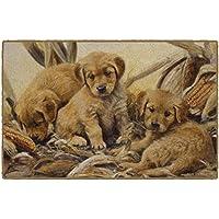 Brumlow Mills EW10119-30x46 Corn Dogs Golden Retriever Puppy Rug, 26 x 310