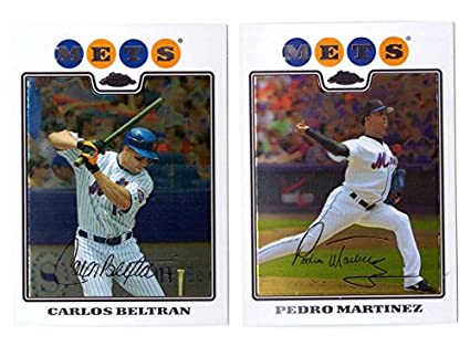 Amazon Com 2008 Topps Chrome New York Mets Team Set
