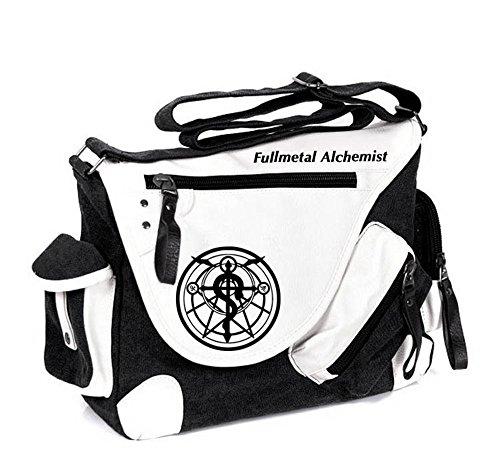 Siawasey Fullmetal Alchemist Anime Cosplay Backpack Messenger Bag Shoulder Bag - Messenger Full Bag Alchemist Metal
