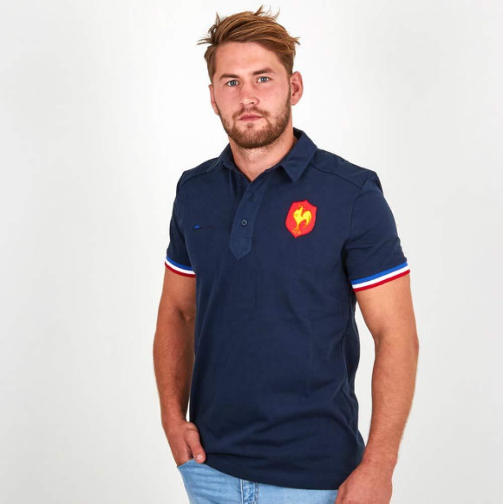 Nouveau Tiss/é Brod/é Polo Rugby CRBsports Team France T-Shirt Swag Sportswear