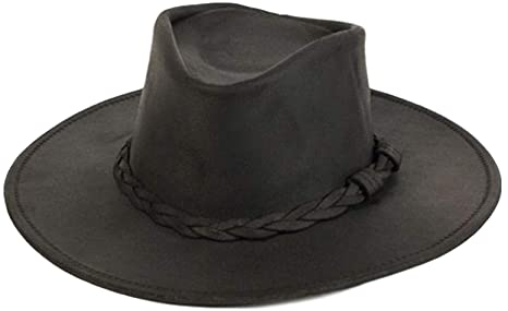 Minnetonka Men s Leather Outback Hat at Amazon Men s Clothing store  Cowboy  Hats 212a33cc45a0