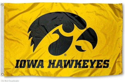 - NEOPlex Iowa Hawkeyes Yellow Traditional Flag
