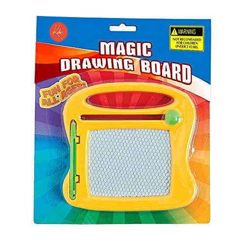 Prize Kayco USA Mini Magna Doodle Toy Kidsco Mini Doodle Board 4.25 Inches Gift Fun for Kids Boys and Girls Party Favors Comes in 2 Colors Which May Vary Pack of 2