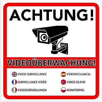 10 Pieza Atención Videovigilancia Premium - Letrero ...