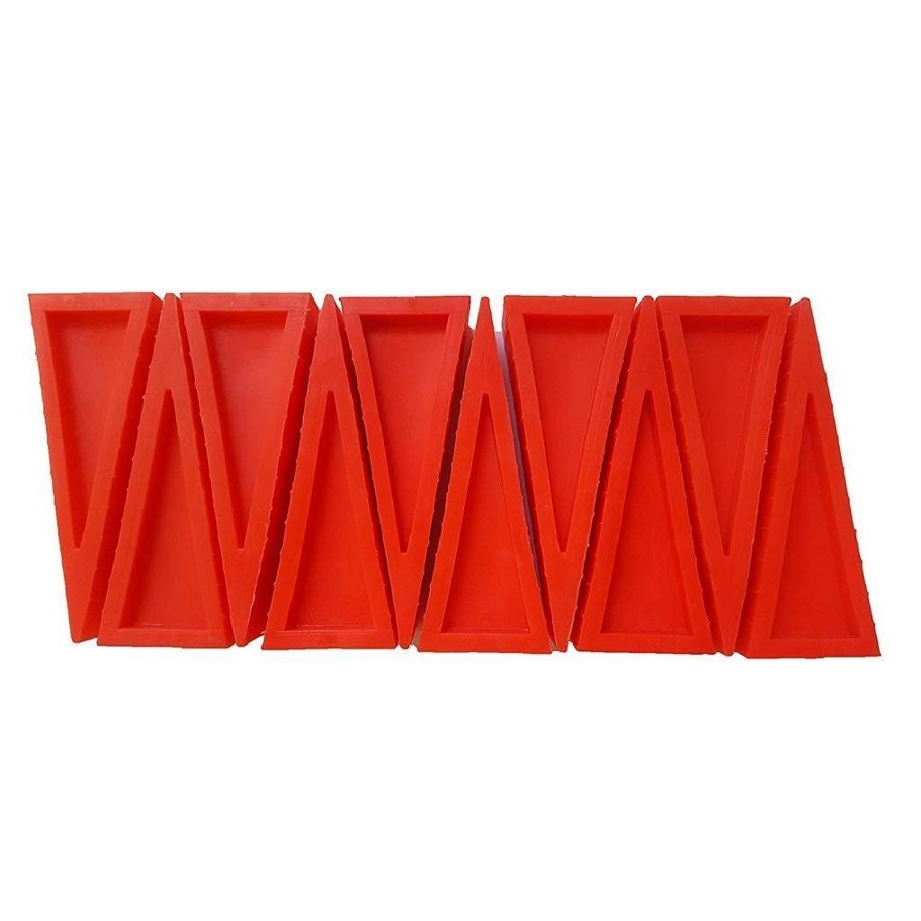 LINE2design Firefighter Door Stopper Safety Combo Wedge Pack Door Stop Loose Sprinkler Stops Safety Wedges Doors Opener (Pack of 50, Red) by LINE2design