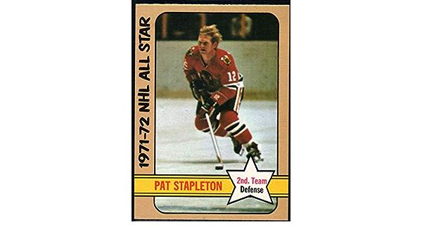 1972-73 Topps #129 Tarjeta de hockey Pat Stapleton Chicago Blackhawks