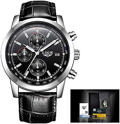 2018 LIGE Quartz Watch Men Top Brand Luxury Casual Watches Leather Mens Military Sport Chronograph Waterproof Clock Herrenuhr,Reloj para Hombres,Orologio ...