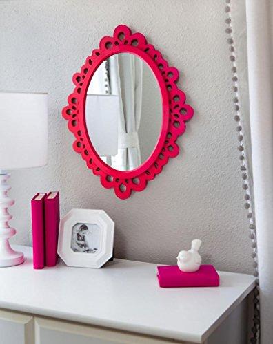 Amazon.com: Butterfly Craze Decorative Oval Wall Mirror, White ...