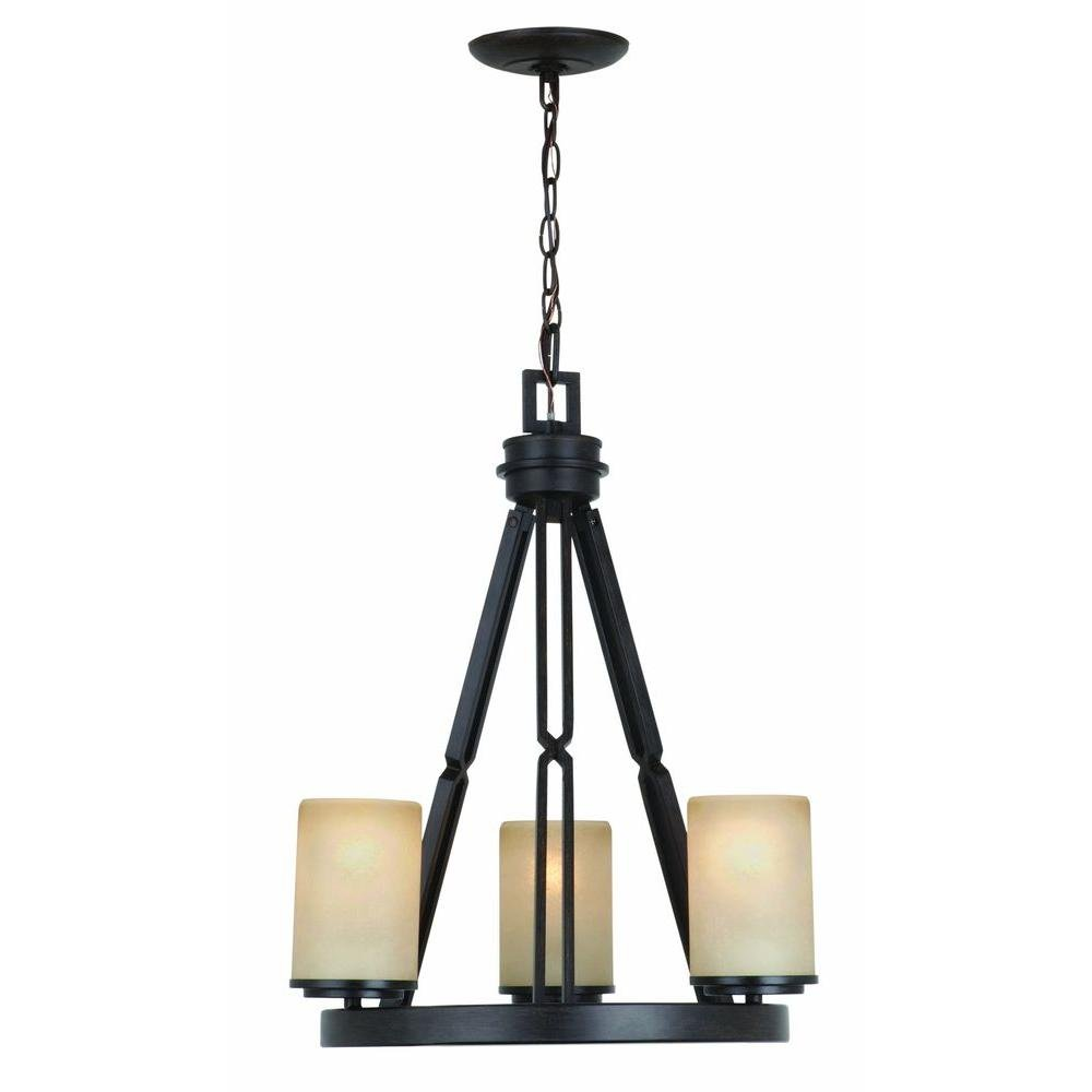 Alta Loma 3 Light Dark Ridge Bronze Chandelier Dark Ridge Bronze   Hampton  Chandelier   Amazon.com