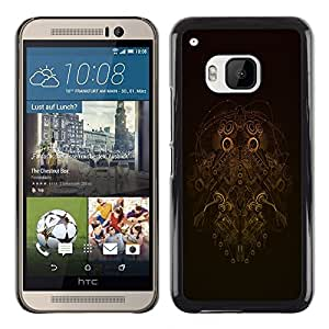 Design for Girls Plastic Cover Case FOR HTC One M9 Robot Wireframe OBBA