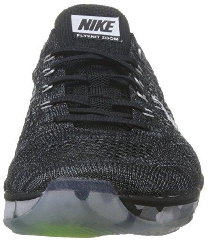 Nike Damen Wmns Flyknit Zoom Agility Turnschuhe Black (Schwarz / Weiß-Dunkelgrau-Volt)