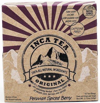 Inca Tea | Peruvian Spiced Berry, Fruity Herbal Tea | Non-GMO, No Caffeine, Gluten-Free, Antioxidant-Rich | 15 Count - 30 Cups | Natural Herbal Tea Blend