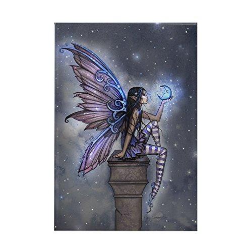 CafePress Little Blue Moon Fairy Fantasy Art Magnets Rectangle Magnet, 2
