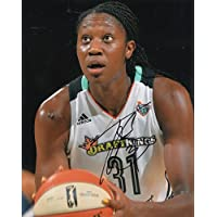 fan products of TINA CHARLES signed (NEW YORK LIBERTY) WNBA Basketball 8X10 photo W/COA #2 - Autographed NBA Photos