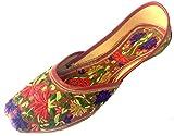 Step n Style Women's Leather Jooti Khussa Mojari Shoes US 6 Multi-Coloured