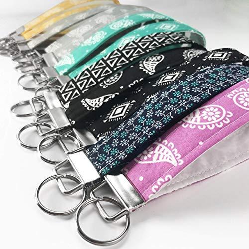 Custom Keychain Wristlet for Women Key Fob Key Chain ()
