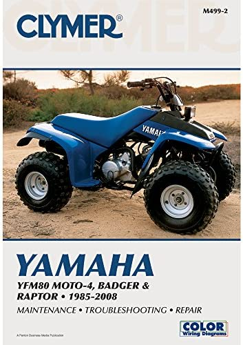 amazon.com: clymer repair manual for yamaha atv yfm80 badger 85-08:  automotive  amazon.com