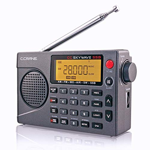 C. Crane CC Skywave SSB AM, FM, Shortwave, NOAA Weather + Alert, Scannable VHF Aviation Band and Single Side Bands Small Battery Operated Portable Travel Radio ()