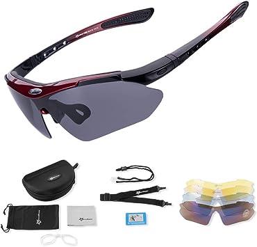 ROCKBROS Gafas de Sol Polarizadas con 5 Lentes Intercambiables ...