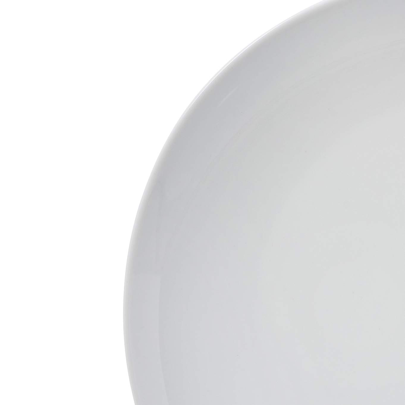 AmazonBasics 18-Piece Kitchen Dinnerware Set, Dishes, Bowls, Service for 6, White Porcelain Coupe by AmazonBasics (Image #2)