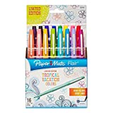 Paper Mate 1928607 Flair Porous-Point Felt Tip Pen, Medium Tip, Limited Edition Tropical Vacation Colors, 16-Count