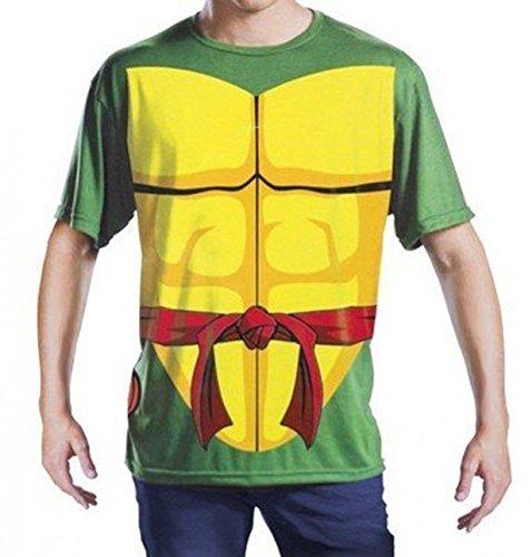 [TMNT Teenage Mutant Ninja Turtles Raphael Adult L/XL Costume T-Shirt] (April Costume Ninja Turtles)