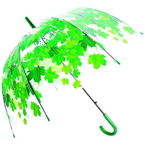 Kung Fu Smith Clear Umbrella for Kids Boys & Girls, Windproof Bubble Dome Rain Umbrella