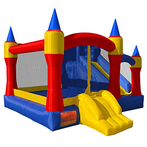 Cloud 9 Royal Slide Bounce House - Inflatable Bouncing Jumper Without Blower ()