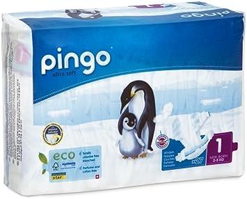 Pingo Pañales Talla 1 New Born (2-5 Kg) - Pack de 2 x 27 Pañales ...