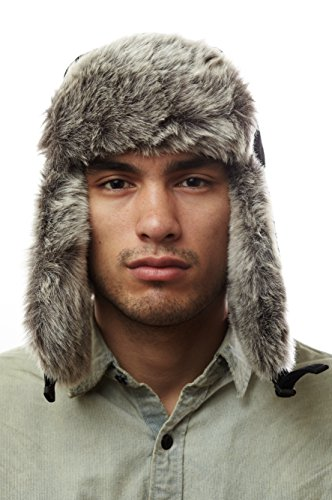 Wool Mens Heavyweight Large Trapper Hat for Camping,skiing,snowboarding