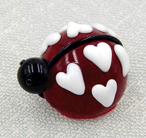 - Art Glass Cherry Chocolate Lady Bug Love Heart Gift Handmade Home Décor